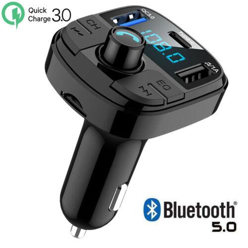 Quick Charger QC3.0 Dual USB Type-C MMC Car FM Transmitter B