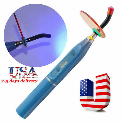 Usa Dental 5w Wireless Cordless Led Curing Light Lamp 1500mwcm Blue 2200ma