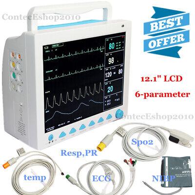 Contec Cms8000 Patient Monitor Icu Vital Signs Portable 12.1 Display Fda Ce