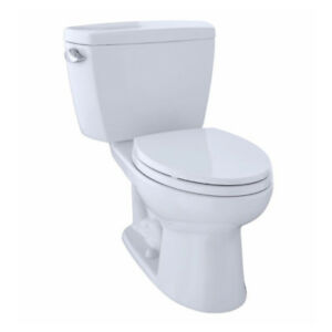 TOTO CST744EL Eco Drake ADA Two Piece Elongated Toilet Cotton