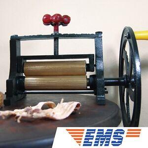 BIG VTG Dry Squid Orange Sugar Cane Mill Juicer Cast Iron Hand Press Brass Hand