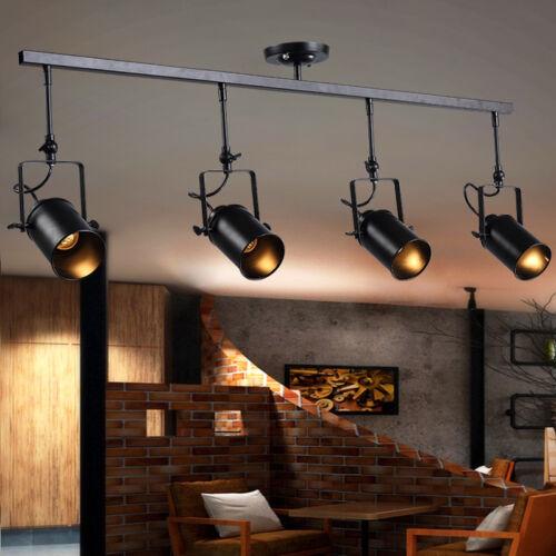 Loft Retro Big Led Track Lighting Kit Fixture Island Spotlig