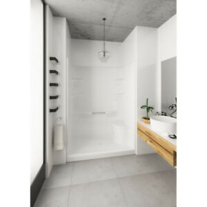 Mirolin WES5LS1 Weston 5 Shower Stall With Seat White