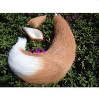 Japan Anime Spice and Wolf Holo Fox Ears Tails Halloween Cosplay Costumes Props (Halloween Costumes Japan)