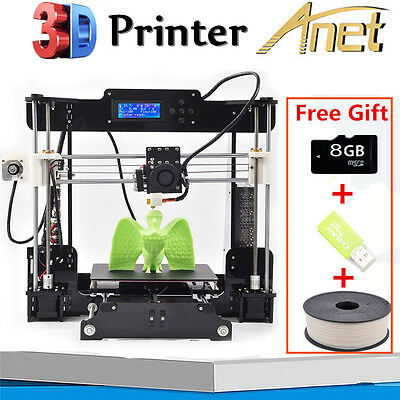 Anet A8 FDM 3D Printer Precision Reprap Prusa i3 DIY&LCD&8GB CARD&1Roll Filament