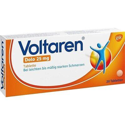 VOLTAREN Dolo 25 mg überzogene Tabletten  20 st        PZN 927263
