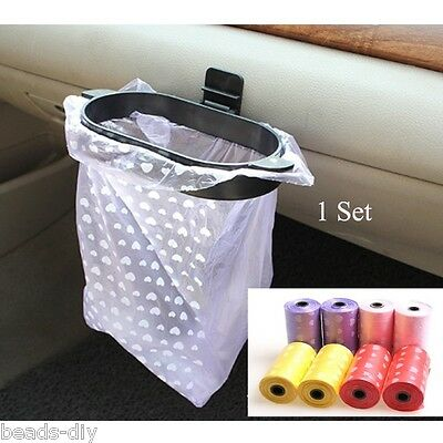 BD 2Roll/ 20PCs Car Rubbish Bags Eco-friendly Trash Garbage or 1 Hanger Set