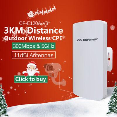 COMFAST Outdoor CPE 300Mbps 5GHz Wireless Access Point WiFi Repeater E120A segunda mano  Embacar hacia Argentina