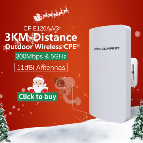 COMFAST Outdoor CPE 300Mbps 5GHz Wireless Access Point WiFi