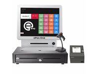 All in one ePos POS system for fast food, restaurants, grocery shops. Double Screen!