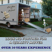 2 MEN AND A TRUCK - AFFORDABLE RATES AND PROMPT SERVICE