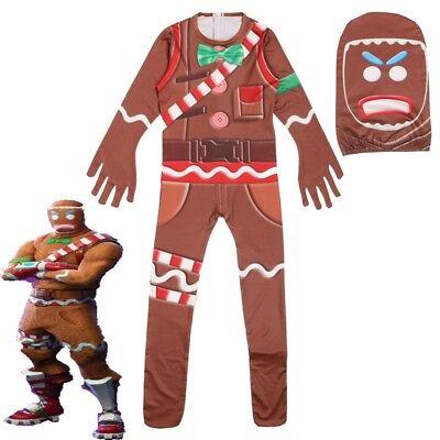 Kinder Jungen Cosplay Halloween Lebkuchenmann Kostüm Halloween - Lebkuchen Mann Kostüm Kind