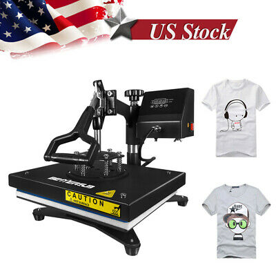 12x9 Swing Away Heat Press Transfer Machine Sublimation Iron On Diy T-shirt Us