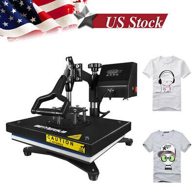 12x9 Swing Away Heat Press Transfer Machine Sublimation Iron On Diy T-shirt Us
