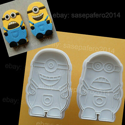 Minions Despicable Me Plunger cookie cutter with stamp 2 pcs. Cortador Minions.](Minion Cookie Cutter)