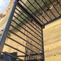 We supply and install   Aluminum welded railings for deck and ba
