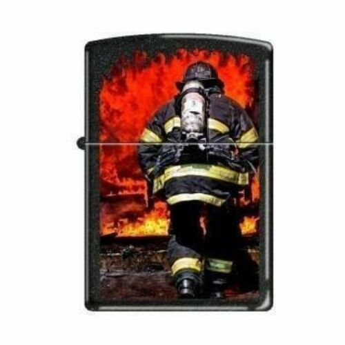 Zippo Lighter - Into the Flames Black Crackle - 853227