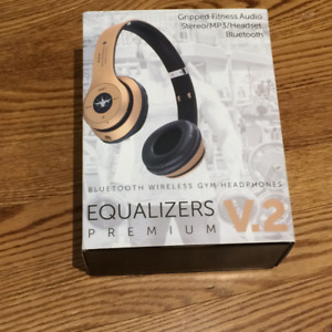 NEW Gripped Fitness Equalizers Prem. Bluetooth Hdphones $90 OBO