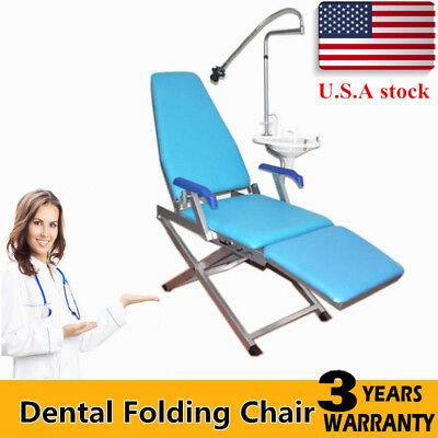 Dental Portable Folding Chair Unit With Water Supply System Plastic Spittoon Usa