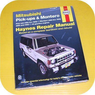 Repair Manual Book Mitsubishi Pick-up Truck Montero D50