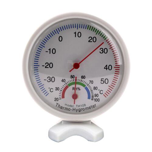 Analog Humidity Gauge Hygrometer Indoor Thermometer Temperature Meter -35~55C Q