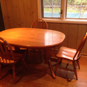 Oak Table with Chairs London Ontario image 1