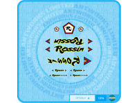 Set 3 Rossin Bicycle Decals Transfers Stickers
