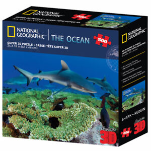"500 Piece National Geographic 3D Puzzle - The Ocean ""Shark"""