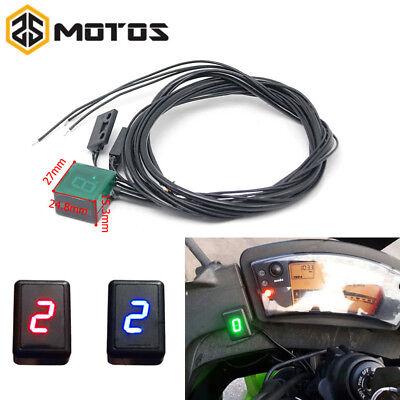 - Universal Motorcycle Bike Digital Gear Indicator LED Display Shift Level Sensor