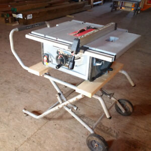"Portable 10"" Contractor Table Saw on Stand"