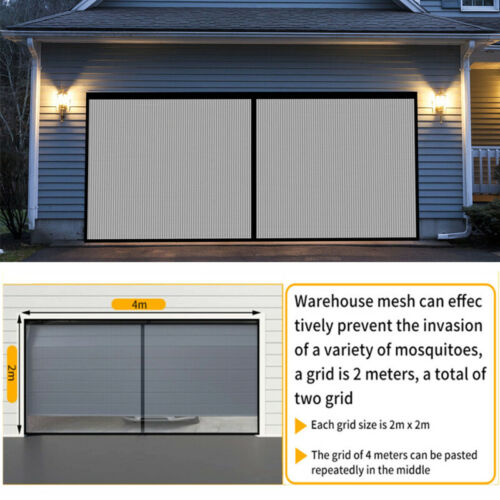 13x6.5ft Double Car Garage Screen Enclosure Door Insects Bug Mosquito Nylon Net