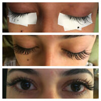 extensions de cils  ,Pose complete JULY promotion60 $