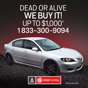 We buy your old car for TOP CASH!1-833-300-9094