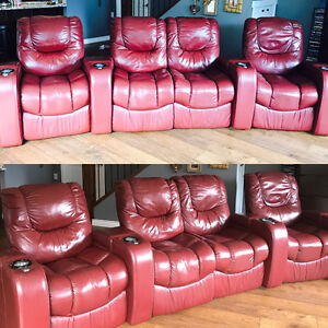 Leather Palliser Theater Seating