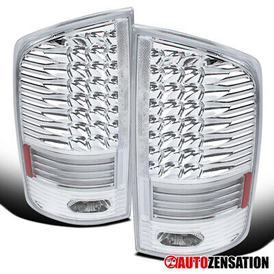 For 2002-2006 Dodge Ram 1500 2500 3500 Clear LED Tail Lights Brake Lamps Pair