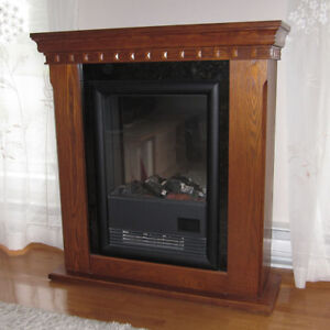 Mantel-type electric fireplace