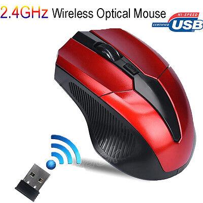 2.4GHz 6D 2400DPI USB Wireless Optical Gaming Maus Mäuse für Laptop Desktop PC