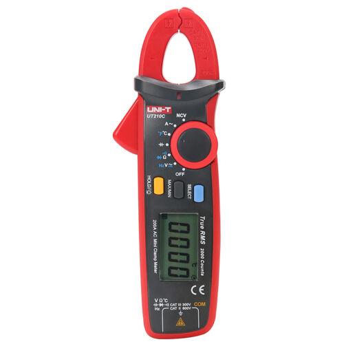 UNI-T UT210C Digital Clamp Meter True RMS Multimeter Capacitance Temp NCV tester