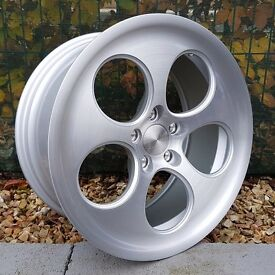 "18"" Bola B5 Silver Brushed Face for VW Audi Seat Etc"