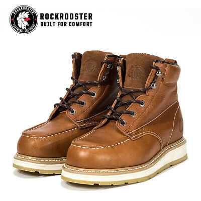 ROCKROOSTER Men Work Boots Composite Toe Puncture Resistant Safety Shoes Composite Work Boots