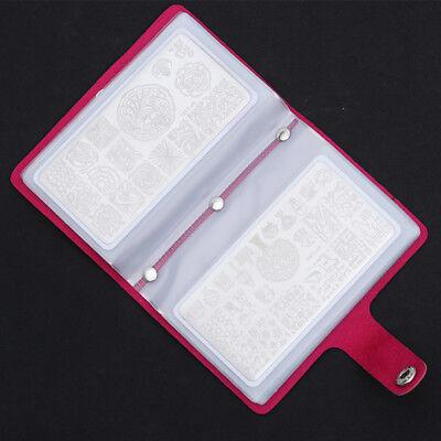 BORN PRETTY 20 Slots Rectangular Nail Art Stamping Plates Holder Bag Organizer