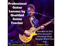 Guitar Lessons by Qualified Teacher with Professional Experience