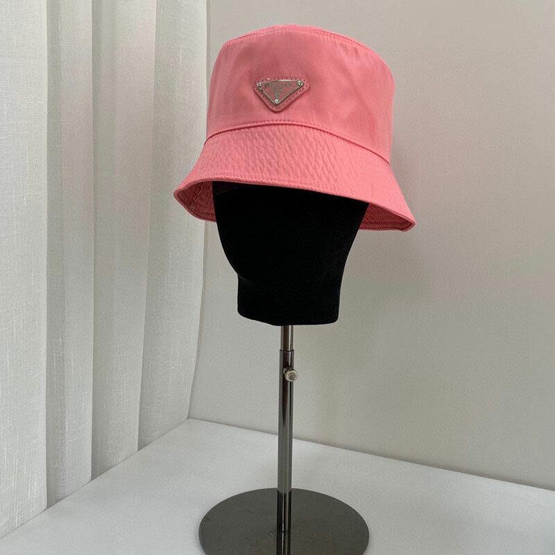 2021 Prada New Unisex Pink Nylon Bucket Hat Hot Free Shipping