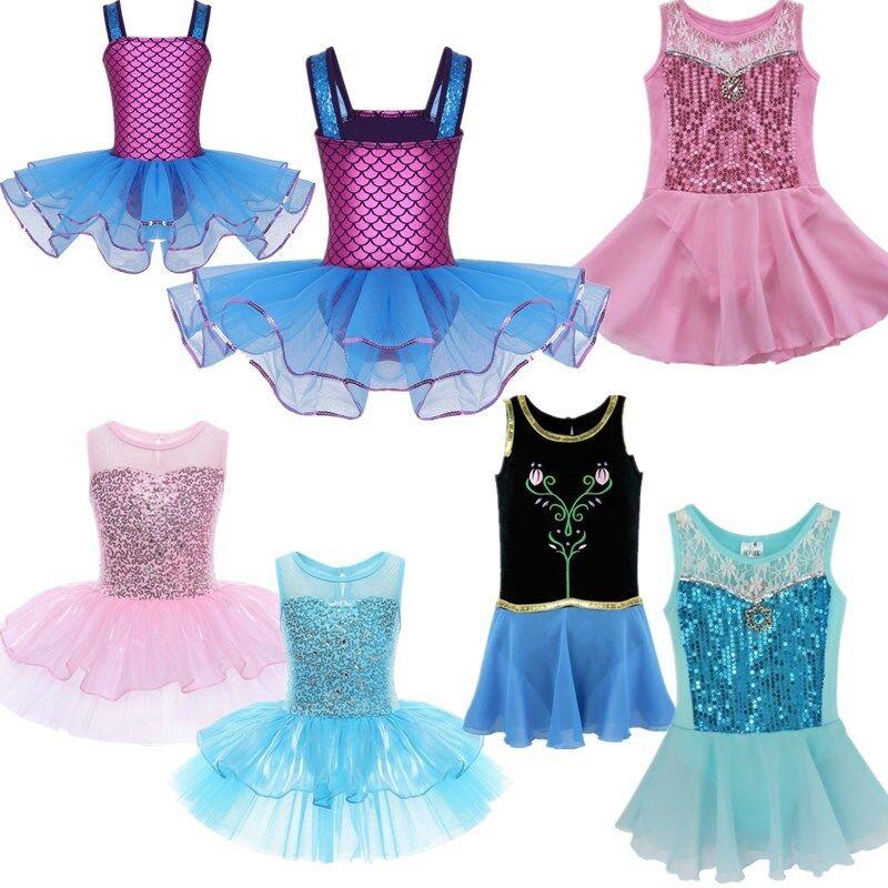 5402d0b6e Kids Girls Ballet Dance Dress Tops+Shorts Ballerina Gymnastics ...