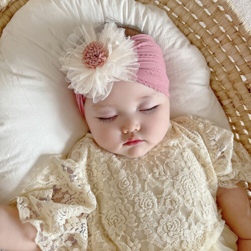 2PCS Newborn Baby Girls Rabbit Headband Soft Elastic Bow Knot Hair Band Set gift