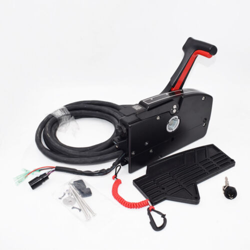 Boat Motor Side Mount Remote Control Box With 8 Pin Cable 15ft For Mercury Grade