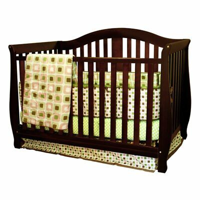 Desiree 4-in-1 Convertible Crib, Espresso