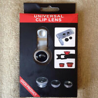 3 Clip on Photo Lenses - fits all phones - new in box