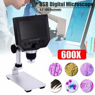 Digital 1-600x 3.6mp 4.3 Lcd Microscope Magnifier Endoscope Camera Adjustable