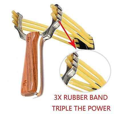 Outdoor Powerful Rubber Band Catapult Slingshot Sling Shot Hunting Games Tools